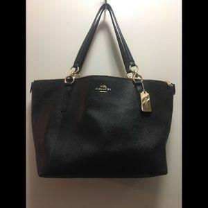 Coach black pebble tote style bag
